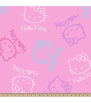 Sanrio Hello Kitty Faces Fleece Fabric