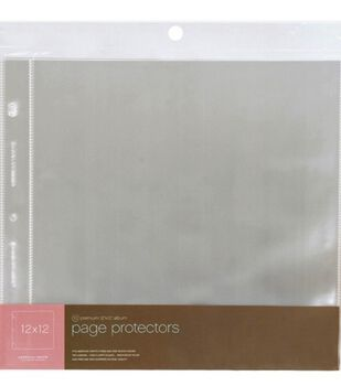 "Page Protectors 12""X12"" Top Loading-For Postbound & D-Ring"