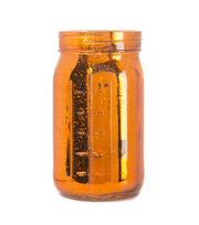 Fab Lab™ Orange Mercury Finish Glass Mason Jar Quart, , hi-res