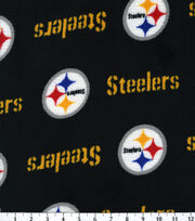 Pittsburgh Steelers NFL Ultra Fluffy Fleece Fabric by Fabric Traditions, , hi-res