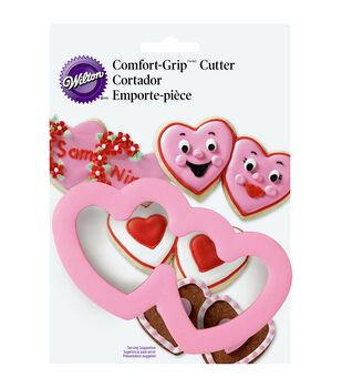 "Wilton® Comfort-Grip Cookie Cutter 4""-Double Hearts"