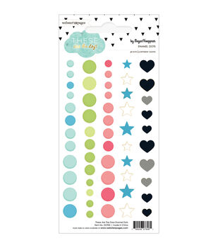 Webster's Pages These Are The Days 56pcs Enamel Dots