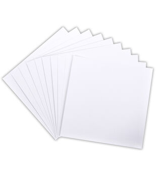 """Core'dinations 110lb Smooth Cardstock 12""""X12"""" 10/Pkg-White"""