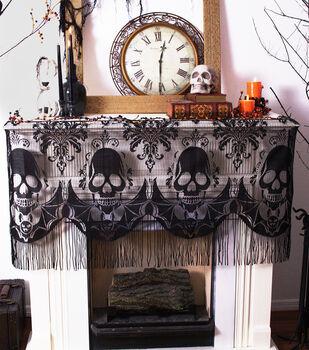 Maker's Halloween 60''x22'' Mantle Scarf-Skull
