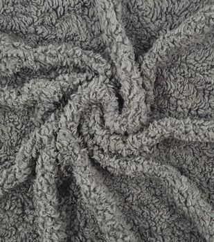 Fashion Faux Fur Fabric-Sherpa Grey