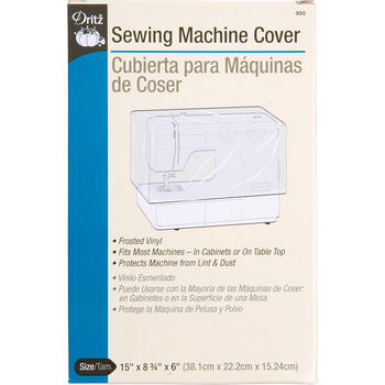 """Sewing Macine Cover-15""""X8-3/4""""X6"""" Frosted Vinyl"""