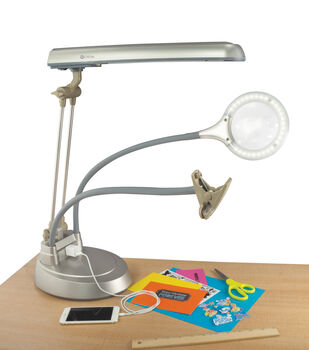 OttLite 24W Ultimate 3in1 Craft Lamp With Outlet