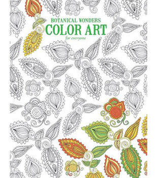Adult Coloring Book-Botanical Wonders Color Art For Everyone