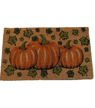 Art of Autumn Coir Mat-Pumpkin