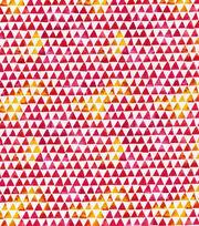 Keepsake Calico™ Cotton Fabric-Watercolor Triangle Pink Orange, , hi-res