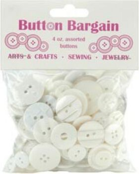 Bag of Buttons 4 oz-White