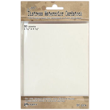 "Ranger Distress Watercolor Cardstock (20 Pack) 4.25""x5.5""-"