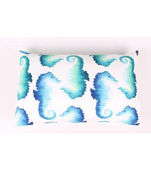 Escape To Paradise Lumbar Pillow-Sea Horse
