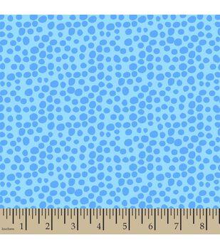 Jennifer Paganelli Cotton Fabric-Teal Fredrika Bubble Dots