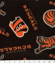 Cincinnatti Bengals NFL Fleece Fabric by Fabric Traditions, , hi-res