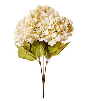 Blooming Autumn 20'' Hydrangea Bush-Cream