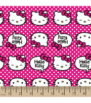 Sanrio Hello Kitty With Dots Cotton Fabric, , hi-res
