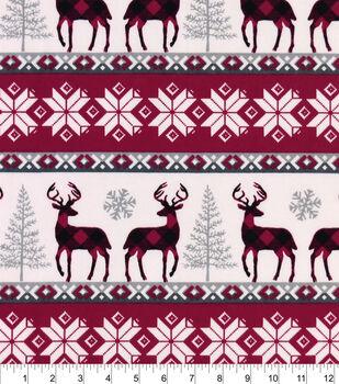 Snuggle Flannel Fabric-Buffalo Check Winter Stripe
