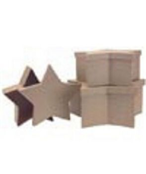 Paper Mache Box Set-3PK/Star