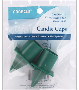 "Panacea 1"" Spiked Candle Cup-2PK/Green"