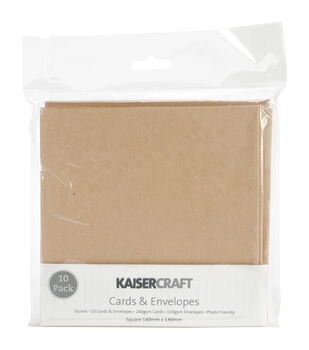Square Card Pack-Kraft