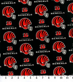 Cincinnatti Bengals NFL Cotton Fabric by Fabric Traditions
