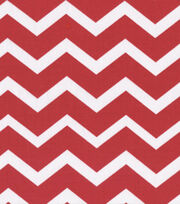 Keepsake Calico™ Cotton Fabric-Red&White Chevron, , hi-res