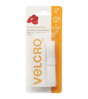 Velcro 0.63'' x 30'' Soft &Flexible Sew-On Tape