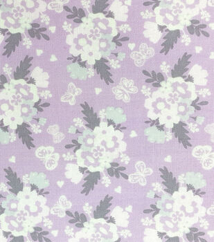 Nursery Fabric - Butterfly Garden Bunches Cotton