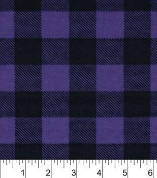 Snuggle Flannel Fabric-Purple Buffalo Check