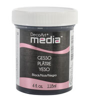 DecoArt Media Gesso 4oz-Black , , hi-res