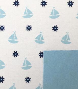 Magic Moon™-Nautical Sailboat Double Knit Fabric