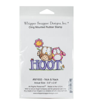 Whipper Snapper Designs Cling Stamp-Nick & Nack