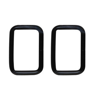 "Everything Mary Black 1.5"" Rectangle Rings-2pk"