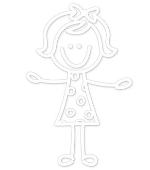 Plaid® Me&My Peeps Family Auto Decal-Toddler Girl
