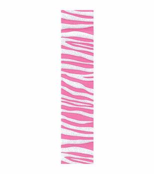3/8in Pink Zebra Crystal