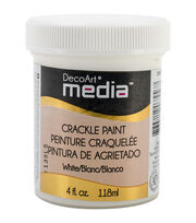 Media Crackle Paint 4oz-White, , hi-res