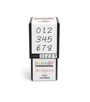 Bridgette Numbers 4mm