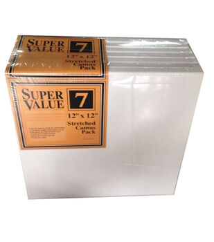 "Jo-Ann Stores Stretched Canvas Super Value Pack 12""x12"""