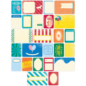 Project Life Themed Cards 60/Pkg-Theme Park