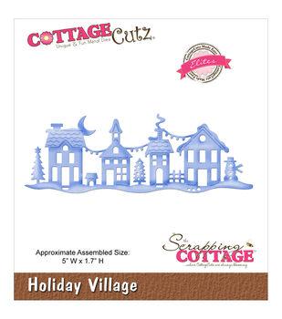 """CottageCutz Elites Die -Holiday Village 5""""X1.7"""""""