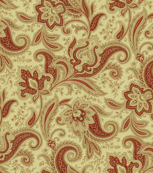 Home Decor Print Fabric-Waverly Rustic Retreat Crimson
