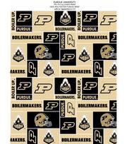 Purdue University NCAA Block Fleece Fabric, , hi-res