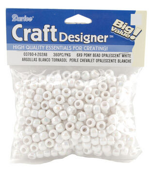 Darice® Craft Designer Pony Beads-White