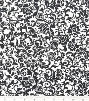 Keepsake Calico™ Cotton Fabric-Black Scroll Damask, , hi-res