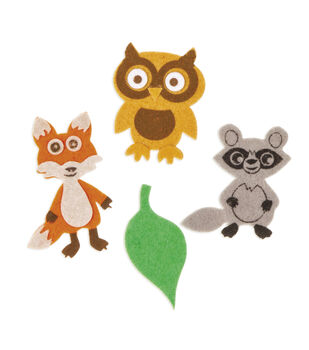 Felt Stickers - Forest Friends