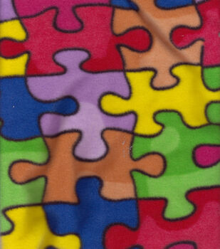 Anti-Pill Fleece Fabric-Jigsaw Puzzle