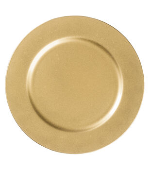 """Hudson 43™ Candle & Light Collection 13"""" Decorative Plate-Gold"""