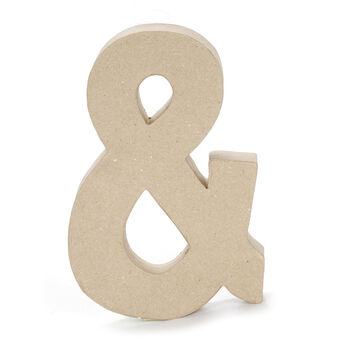 Paper Mache Ampersand Symbol, 8 inches