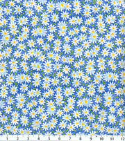 Keepsake Calico™ Cotton Fabric-Packed Daisy Blue, , hi-res